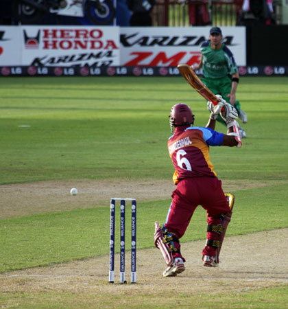 Driven away by Chanderpaul