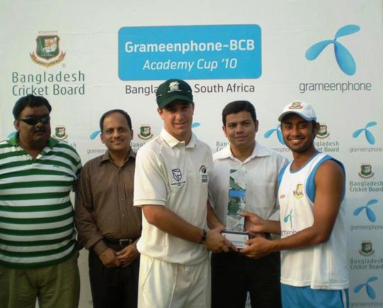 ACR Birch and Mithun Ali receiving Winner trophy