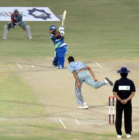 Rameez Raja in action