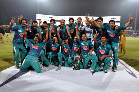 Rawalpindi Rams celebrates with the trophy