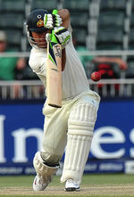 Ricky Ponting ended the fourth day with a half-century