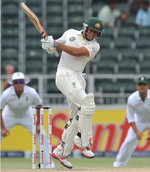 Usman Khawaja pulls one for six