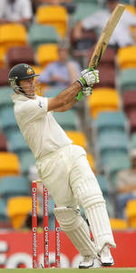 Ricky Ponting dispatches one for four