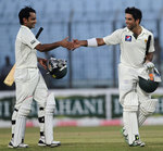 Mohammad Hafeez and Taufeeq Umar opened the batting for the 11th consecutive Test