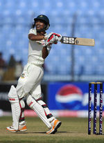 Nasir Hossain pulls on his way to 41