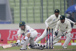 Misbah-ul-Haq shapes up to play a paddle sweep