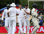Dale Steyn celebrates the exit of Tharanga Paranavitana