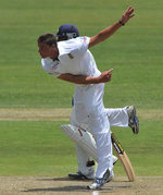 Marchant de Lange picked up four wickets on his first day of Test cricket