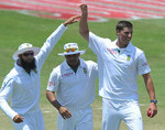 Marchant de Lange picked up seven wickets on debut