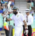 Hashim Amla celebrates his half-century