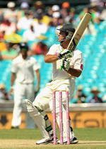 Ricky Ponting pulls in the air