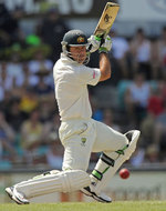 Ricky Ponting leans in to a drive