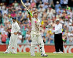 Ricky Ponting celebrates his 40th Test century