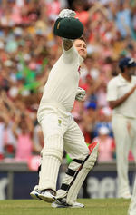 Michael Clarke is ecstatic after getting to a triple-century