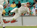 Shaun Marsh completes a catch to send Zaheer Khan on his way
