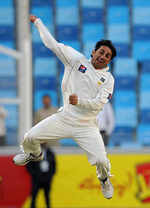 Saeed Ajmail was delirious with his 10 wickets in the match