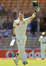 Michael Clarke is all smiles on reaching his double century