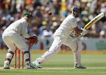 VVS Laxman nicks one