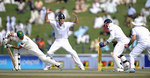 Taufeeq Umar loses his off stump to Graeme Swann