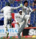 Saeed Ajmal is ecstatic after getting rid of Ian Bell