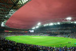 International cricket debuted at Stadium Australia in the first T20I