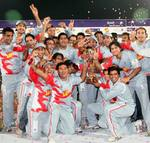 Sialkot Stallions celebrate after winning the tournament