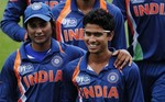 Indian players celebrate after winning