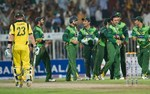 Pakistan celebrate after striking