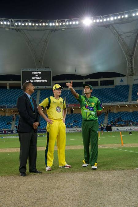 The toss was won by Pakistan who opted to field first