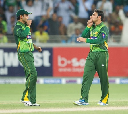 Saeed Ajmal after taking his second wicket
