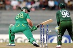 Richard Levi was unable to pick Saeed Ajmal's doosra