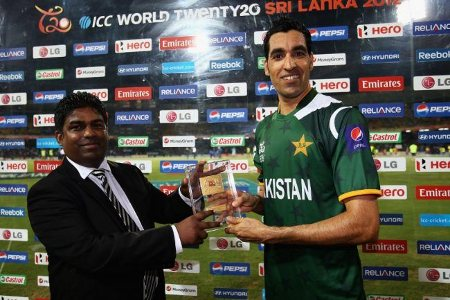 Umar Gul was the Man of the Match