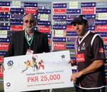 Misbah-ul-Haq's knock with the bat got him the Man of the Match Award