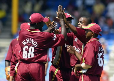 Wavell Hinds celebrates