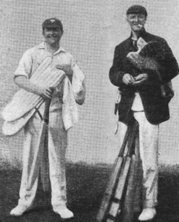 DCF Burton (Yorkshire) and PR Johnson (Somerset) at the nets