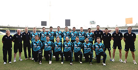 Scotland in United Arab Emirates 2012/13, Team photograph
