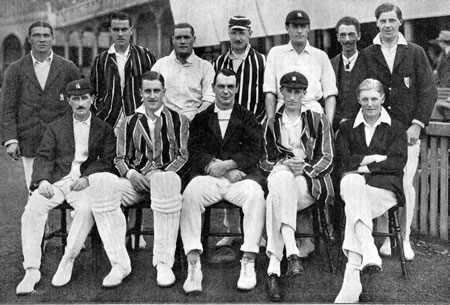 Warwickshire Team against Lancashire photograph, 8th, 10th, 11th July 1922