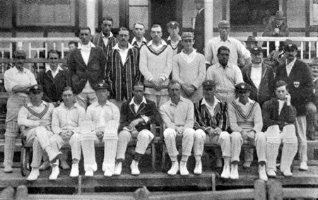 Worcestershire Team against Essex Team photograph 5th, 7th, 8th August 1922