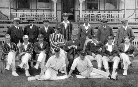 Worcestershire Team against Sussex photograph 19th, 21st, 22nd August 1922