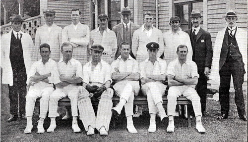 New Zealand North Island v New Zealand South Island Team photograph 1922
