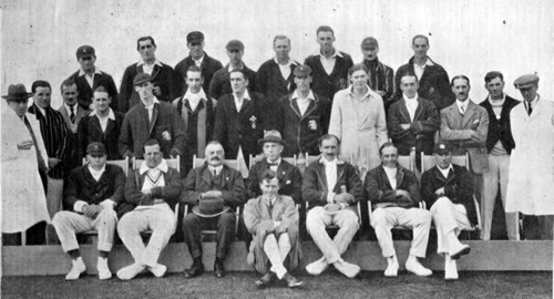 Lord Cowdray's XI v The Rest joint team photograph September 1923