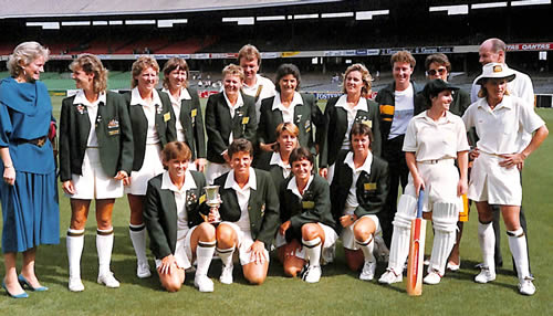 Australia Women's Shell Bicentennial Women's World Cup 1988/89 winning squad