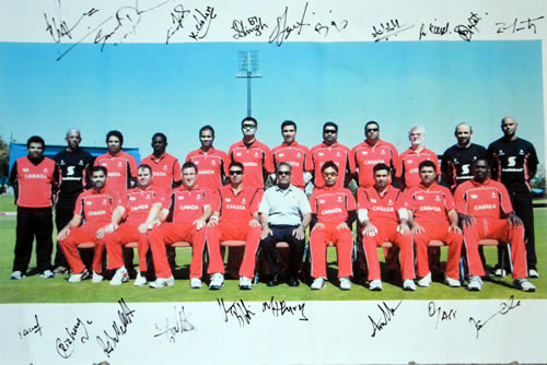 Canadian Team for the Final of the ICC World Cup Qualifier 2008/09 against Ireland
