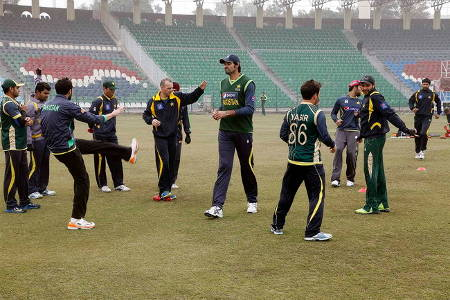 Pakistan team during a practice session ahead of the World Cup