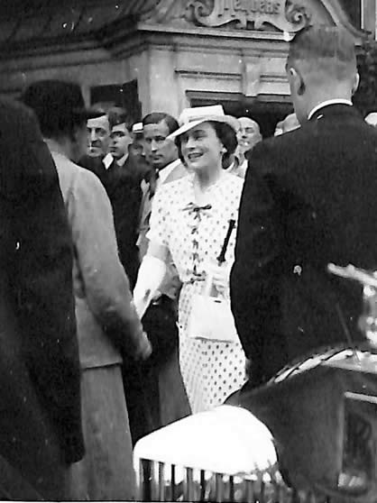 HRH Duchess of Gloucester at the 3rd Test, 1937