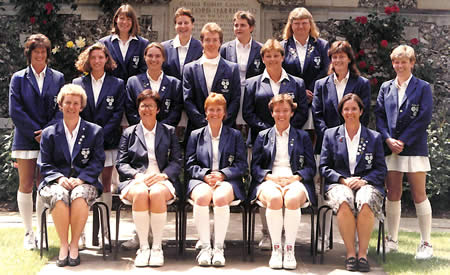 England Women team at Lords 1996