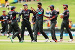 UAE celebrate Nasir Jamshed's wicket