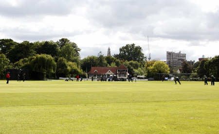 The Castle Park Cricket Ground, Colchester in Essex, England