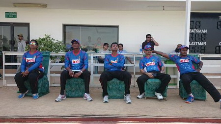 Bangladesh management watching the match