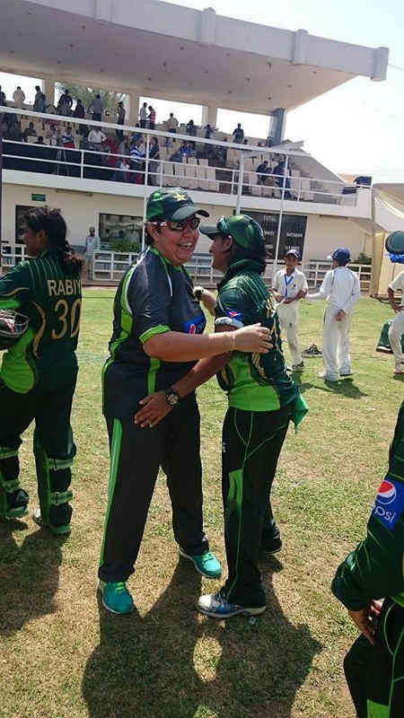 Pakistan Women celebrating after beating Bangladesh and securing the series 2-0